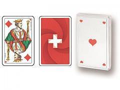 11.202 - SWISS FLAG - Spielkarten Piqu..