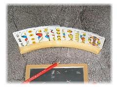 Kartenhalter gebogen