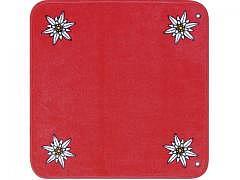 Edelweiss - Jassteppich Rot