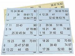 Lottoblätter / 600 Karten auf 100 Blatt