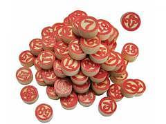 Lotto - Zahlen auf Holz