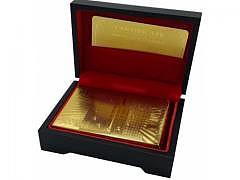 Gold Pokerkarten 24 Karat