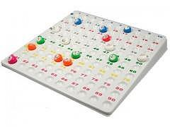 Lotto Spiel Tableau mit Kugel