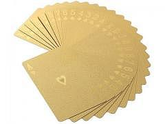 Pokerkarten Gold - 24 Karat PVC-Box