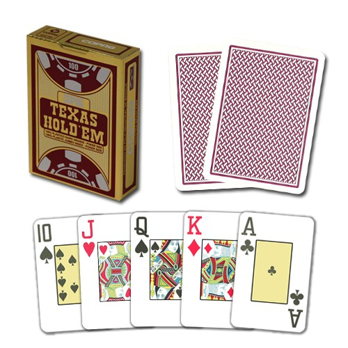 Copag Texas Hold'em, PVC, roter Kartenrücken, limited Edition