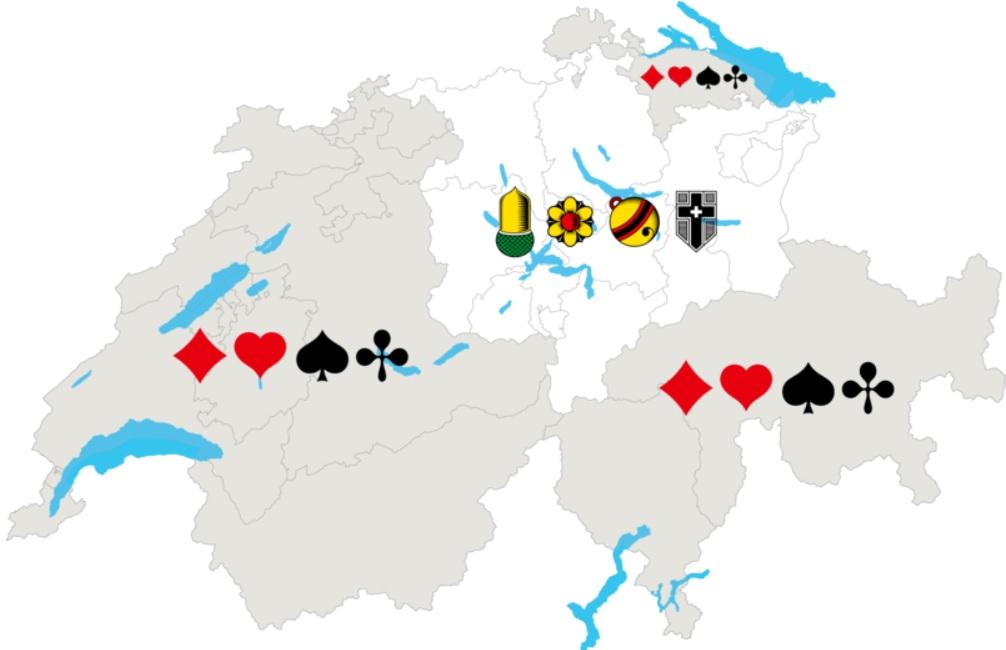Jass - Gebiete Schweiz