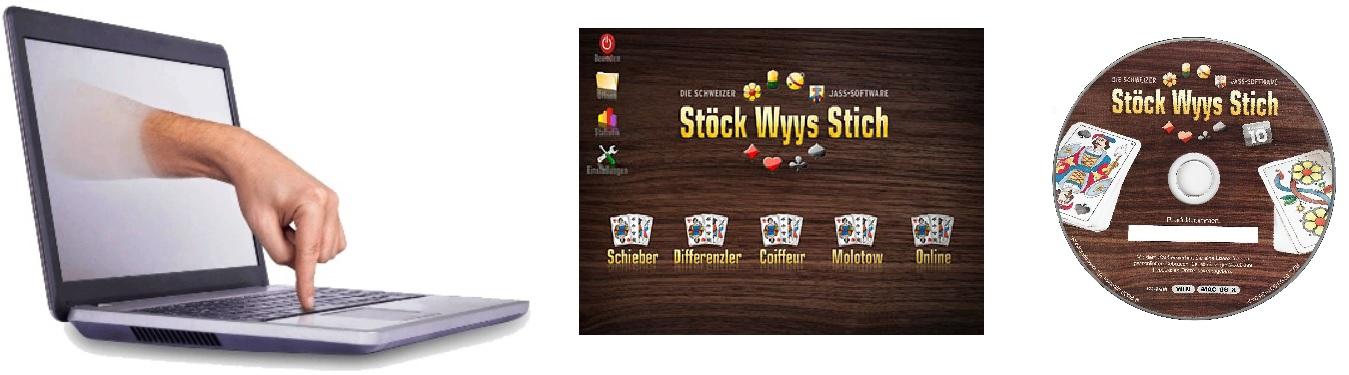 Support und Hilfe zu Jass CD und Jass - Software Stöck Wyys Stich