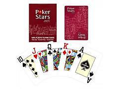85.129 - Orig. Poker Stars PVC Karten, rot