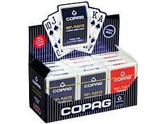 09.328 - 12-er Pack Poker Karten Copag, Rot + Blau, 4 Corner-Jumbo Index