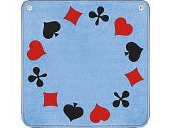14.363 - Jassteppich - Piquet (F) Hell-Blau