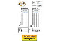 01.025 - Punkteblatt für Preisjassen ( farbig mit Logo )