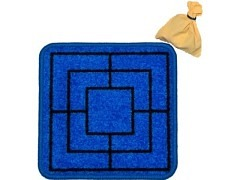 99.751 - Mühle - / kleiner Jass- Spielteppich Blau