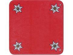 33.530 - Edelweiss - Jassteppich Rot