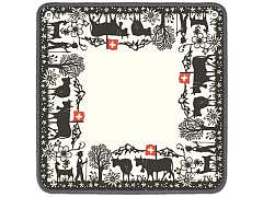 14.368 - Der Traditioneller Schweizer Jassteppich 64 x 64 cm