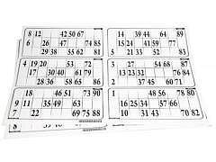 Lottoblätter / 300 Karten auf 50 Blatt