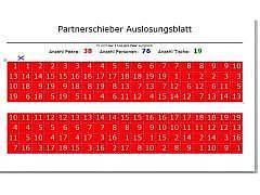 Partner-Schieber Auslosung